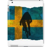 Cycling Sprinter on Swedish Flag iPad Case/Skin