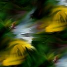 Abstract Yellow Green And White Colors by SmilinEyes
