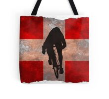 Cycling Sprinter on Swiss Flag Tote Bag