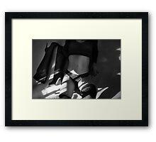 Lazy - b&w - high resolution Framed Print