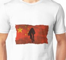 Cycling Sprinter on Chinese Flag Unisex T-Shirt