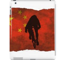 Cycling Sprinter on Chinese Flag iPad Case/Skin