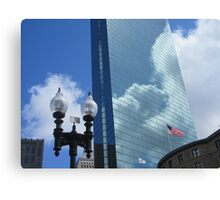 Clouds Reflect off the John Hancock Tower Canvas Print