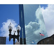 Clouds Reflect off the John Hancock Tower Photographic Print
