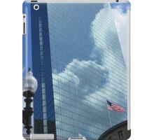 Clouds Reflect off the John Hancock Tower iPad Case/Skin