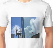 Clouds Reflect off the John Hancock Tower Unisex T-Shirt