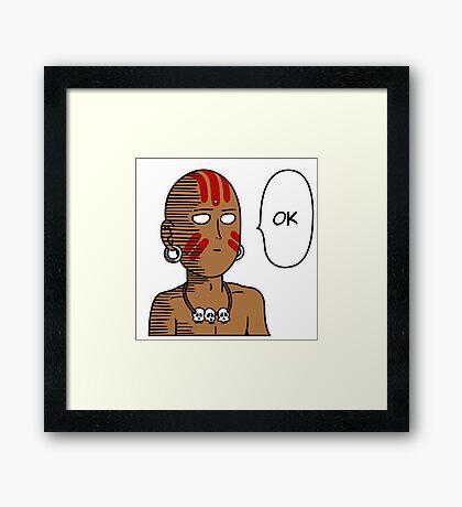 One Punch Dhalsim Framed Print