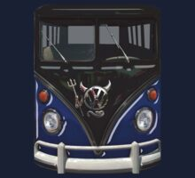 Navy Blue Camper Van With Devil Emblem by funandhappy