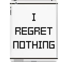 I REGRET NOTHING #1 iPad Case/Skin