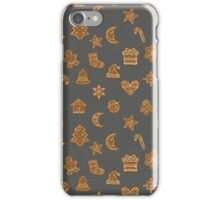 Gingerbread christmas cookies iPhone Case/Skin