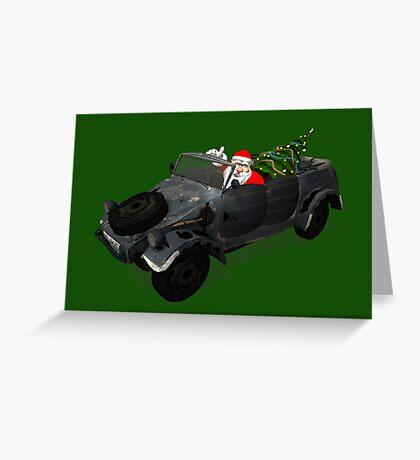 Santa Claus In Kübelwagen Greeting Card