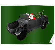 Santa Claus In Kübelwagen Poster