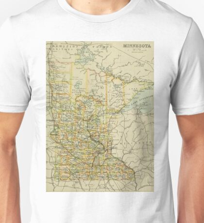 old map of Minesota Unisex T-Shirt