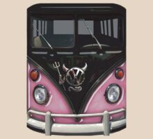 Pink Camper Van With Devil Emblem by funandhappy