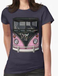 Pink Camper Van With Devil Emblem T-Shirt