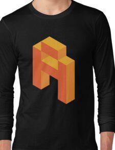 Isometric orange letter A Long Sleeve T-Shirt