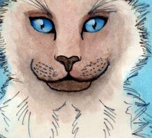 Siamese Cat Watercolor Blue Eyes Sticker
