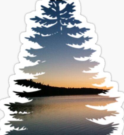 sunset tree Sticker