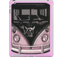 Pink Camper Van With Devil Emblem Art iPad Case/Skin