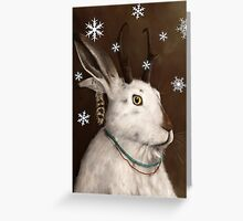 Rustic Jackalope Christmas Card Greeting Card