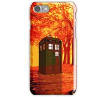 tardis starry nigh - oranye sun iPhone Case/Skin