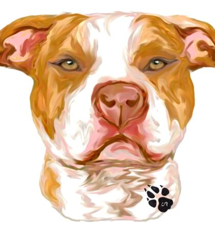 Pit Bull Red Sticker