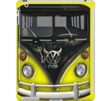 Yellow Camper Van With Devil Emblem iPad Case/Skin