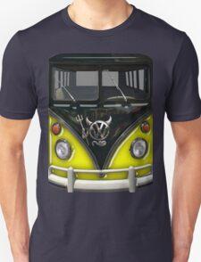 Yellow Camper Van With Devil Emblem T-Shirt