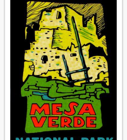 Mesa Verde National Park Vintage Travel Decal Sticker