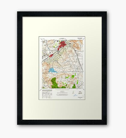 USGS TOPO Map California CA Riverside 298784 1942 62500 geo Framed Print