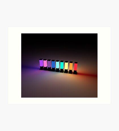 Rainbow Lamps Art Print