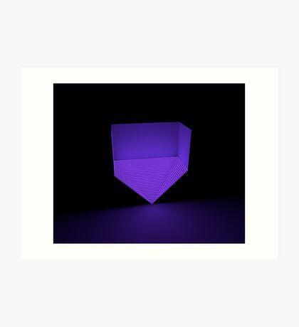 Purple pyramid  Art Print