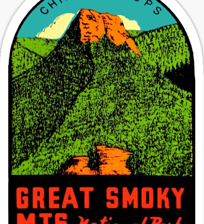 Great Smoky Mountains National Park Vintage Travel Decal 2 Sticker