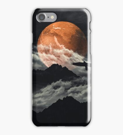 mars above mountains iPhone Case/Skin