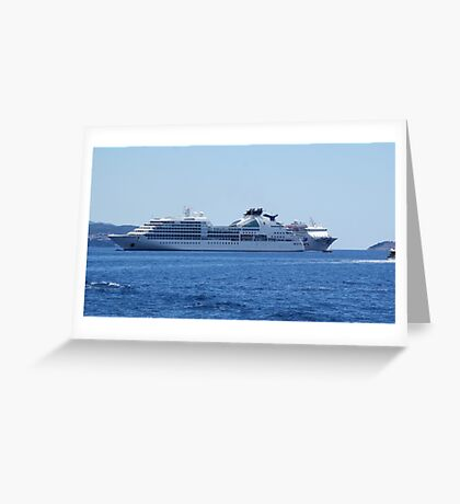 On the blue waves Greeting Card