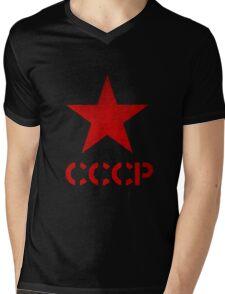 Russian star,cccp,ussr,red army,ww2,russia,russian, Mens V-Neck T-Shirt