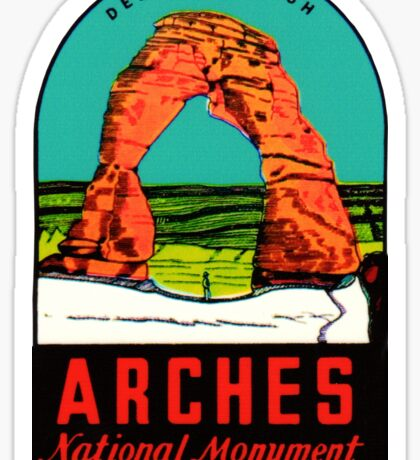 Arches National Monument Utah Moab Vintage Travel Decal Sticker