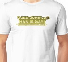 Does Jumin Han is gay print Unisex T-Shirt