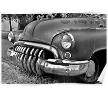 Buick Super Black And White Poster