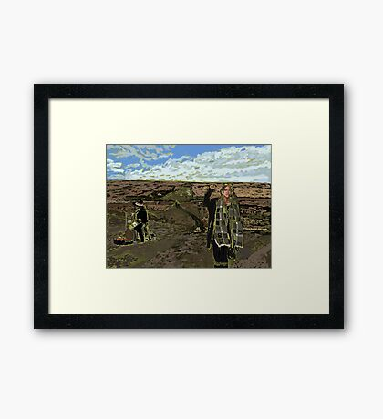 Stand with Standing Rock Framed Print