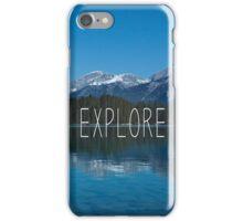 Explore Canada Typography Print iPhone Case/Skin