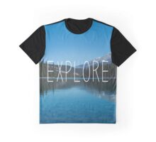Explore Canada Typography Print Graphic T-Shirt