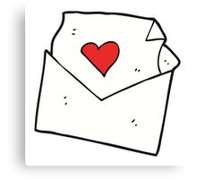cartoon love letter Canvas Print