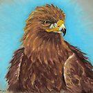 Golden Eagle in Pastel by Linda Sparks