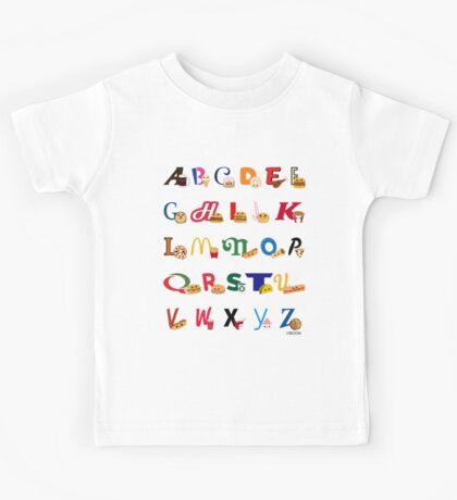 Fast Food Alphabet Kids Tee