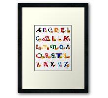 Fast Food Alphabet Framed Print
