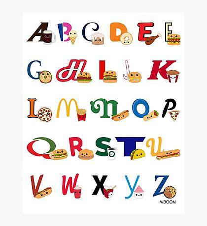 Fast Food Alphabet Photographic Print