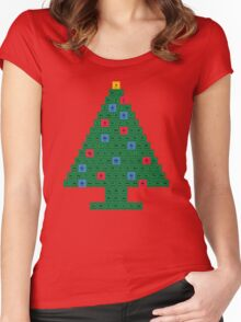 Chemistry Christmas Tree Periodic Table Women's Fitted Scoop T-Shirt