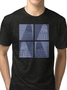 Daleks in negatives - blue Tri-blend T-Shirt