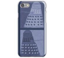 Daleks in negatives - blue iPhone Case/Skin